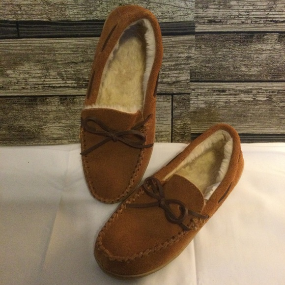 J. Crew Brown Suede Lodge Moccasins Size 8